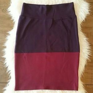 Lularoe Cassie Pencil Skirt Large Colorblock